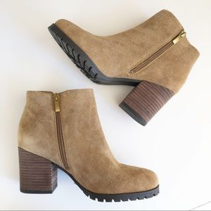 NWT FRANCO SARTO Suede Leather Ankle Boots SZ 6